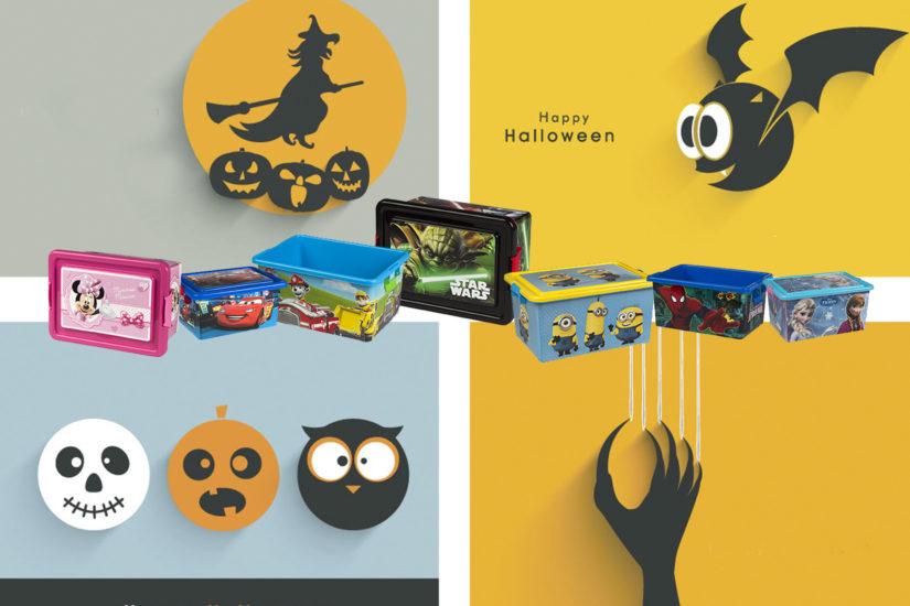 Halloween cajas de ordenación
