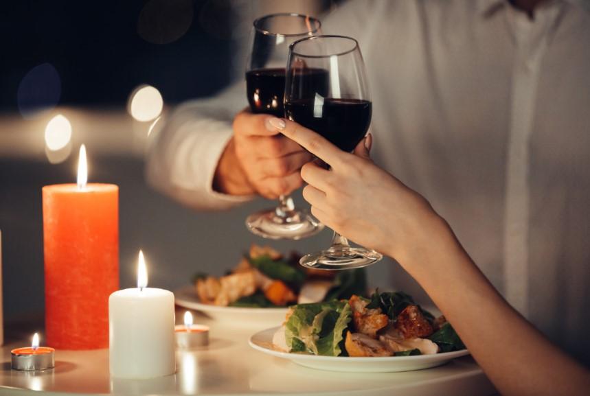 Cena romántica San Valentín