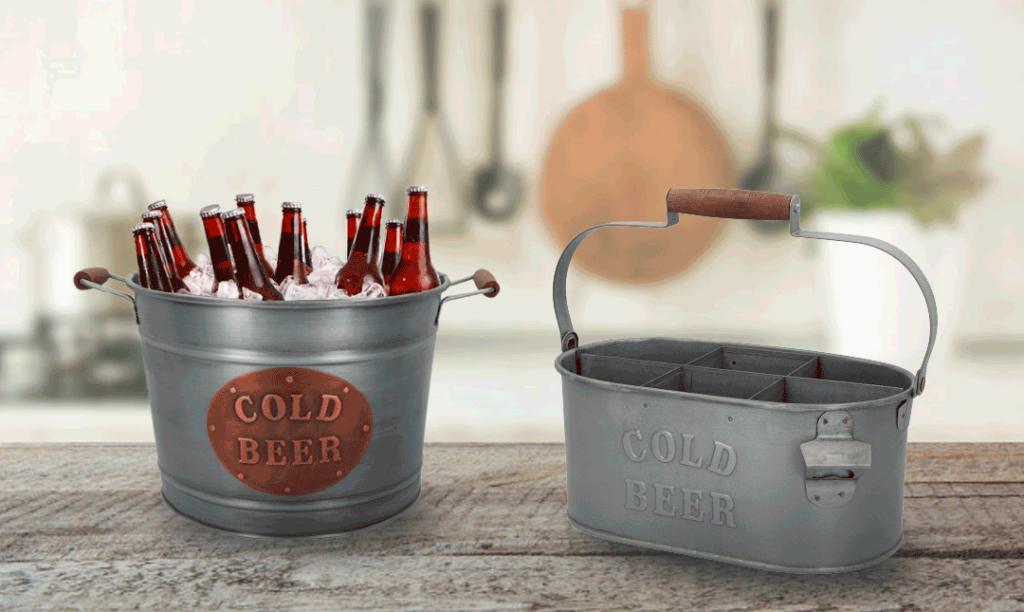 cubos galvanizados cerveza